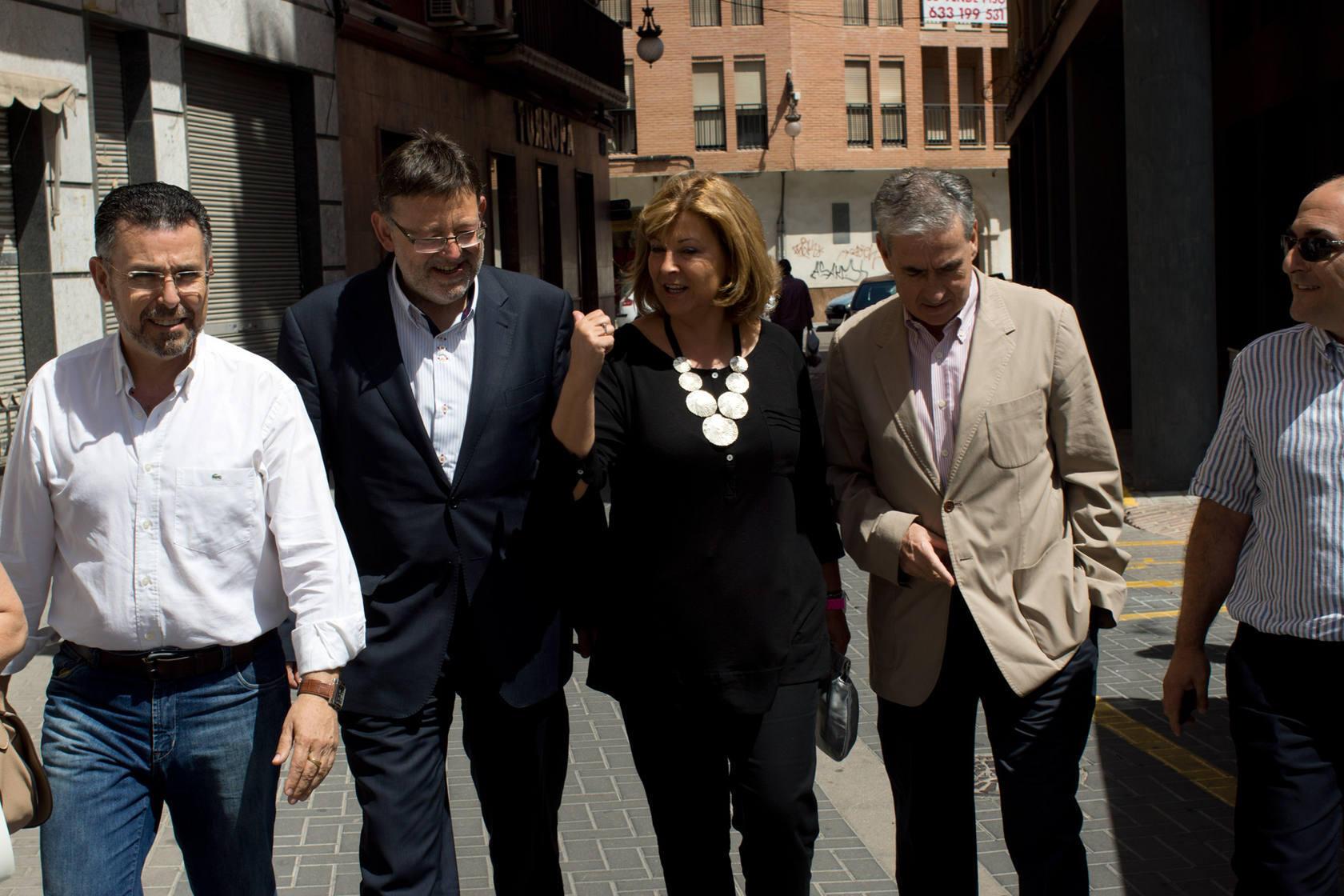 Mitin para conmemorar los dos años de gobierno del PSOE en Orihuela