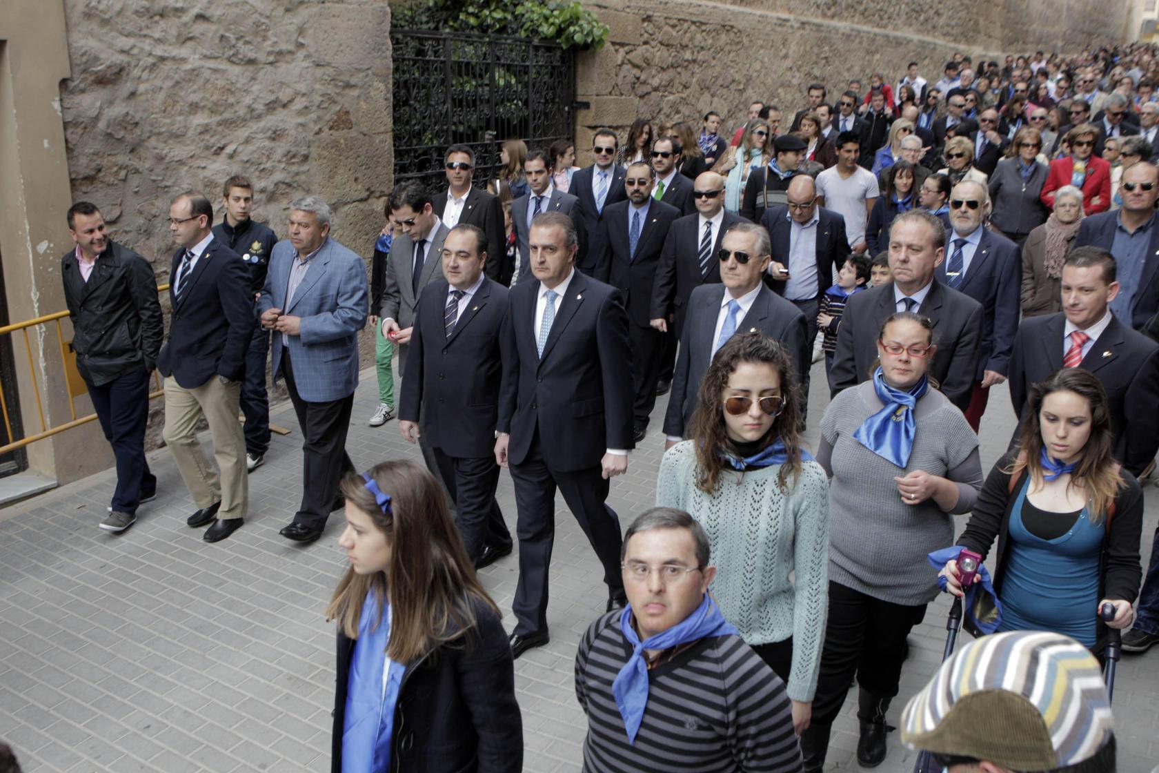 El 'anuncio' del Paso Azul llena las calles de Lorca