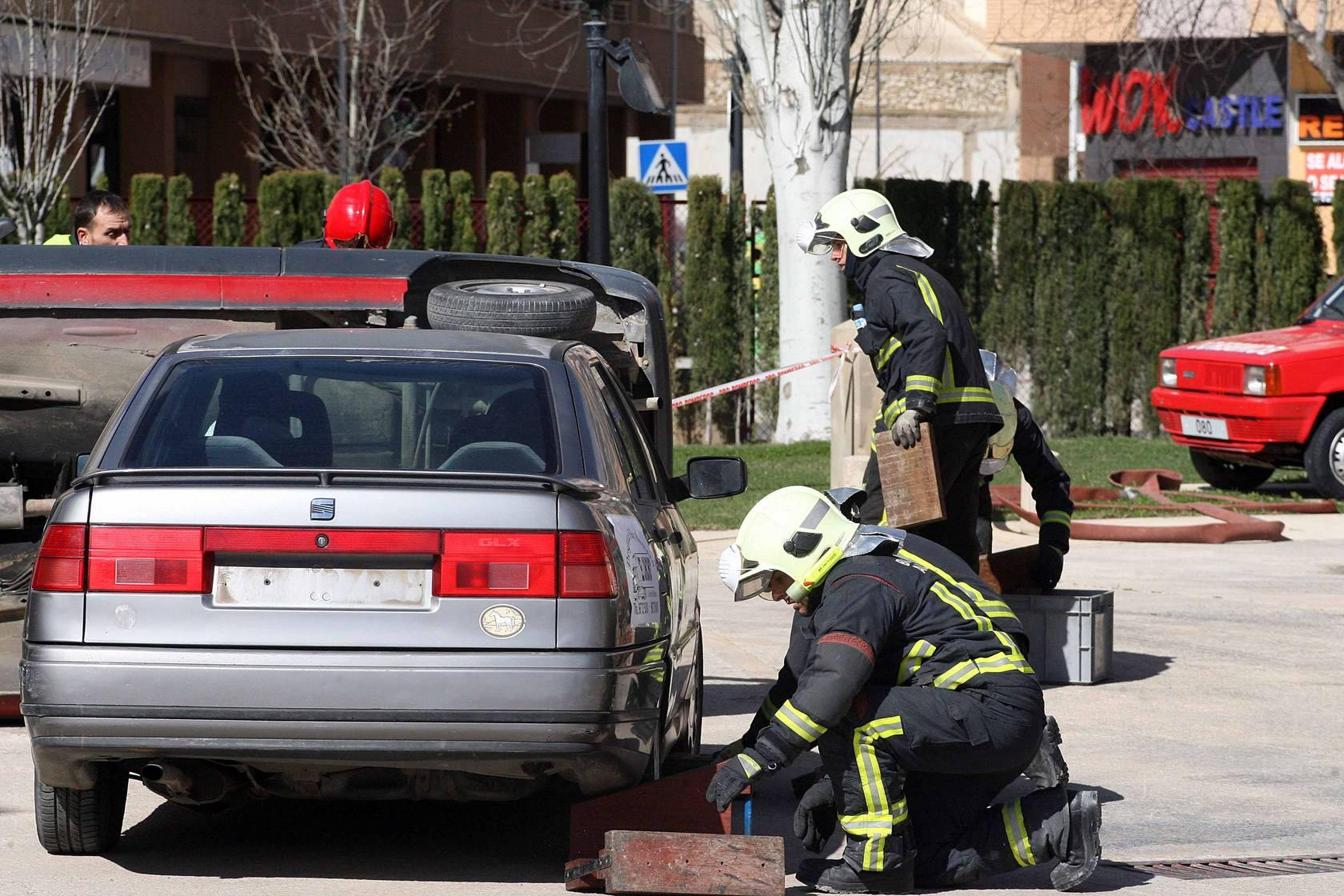 Los bomberos de Albacete realizaron un simulacro de accidentes