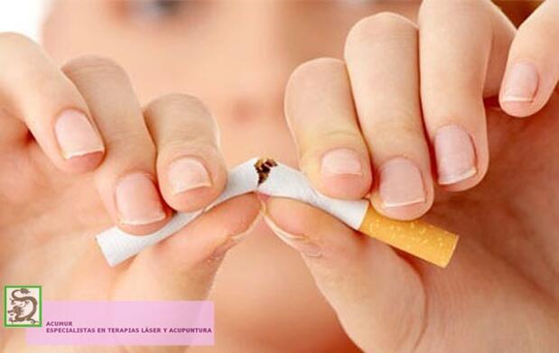 Sesión para dejar de fumar con láser