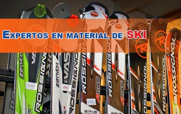 Alquiler de material esquí y snowboard