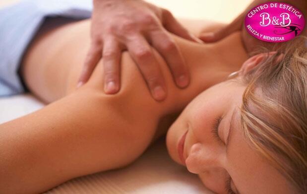 1, 3 o 5 masajes a elegir de una hora