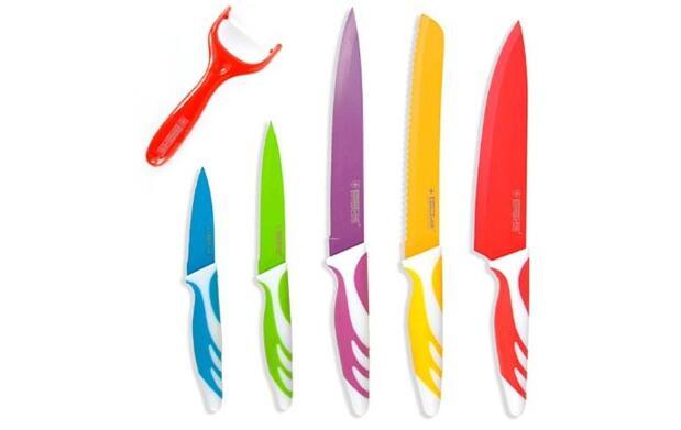 Set de cuchillos revestimiento cerámico