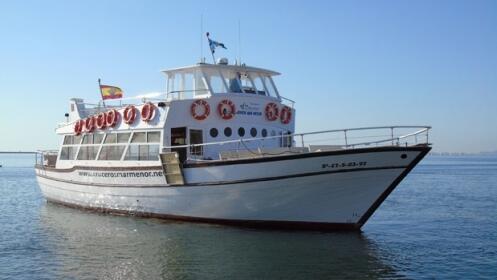Ida y vuelta en barco para 2 Los Alcázares-La Manga. Elije tu salida