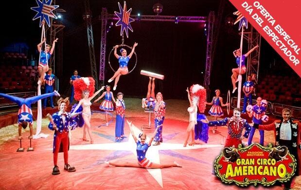 Circo Americano oferta especial miércoles