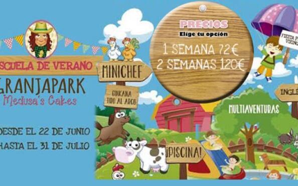 La Escuela de verano Granja Park con piscina