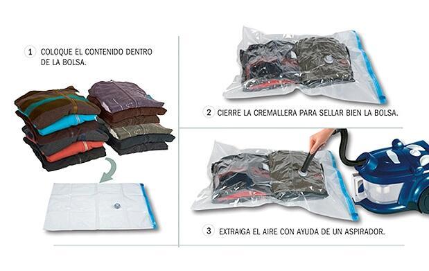 6 bolsas guardarropas 24 €