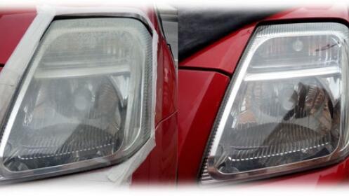 Devuelve la luz a los faros del coche.