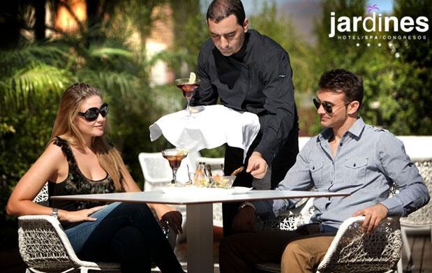 Spa y cena para dos en Jardines de Lorca