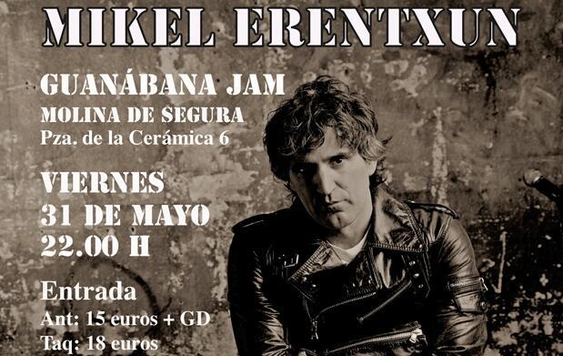 Mikel Erentxun canta en Molina de Segura