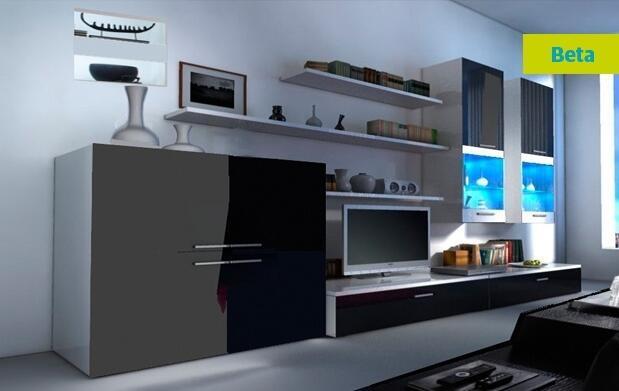 Conjunto de salón con iluminación LED