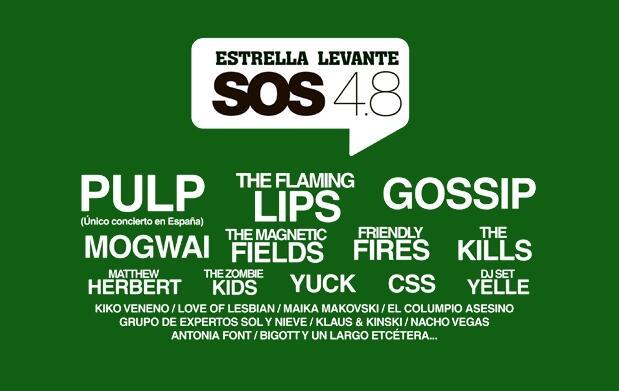 Última oferta abonos Festival SOS 4.8