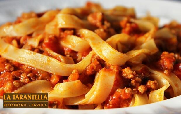 Deliciosa pizza o pasta en La Tarantella