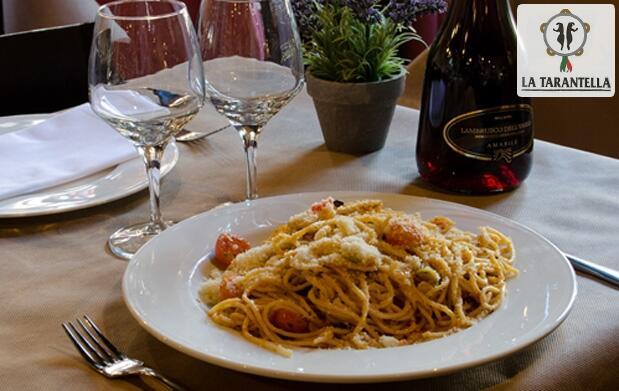 La tarantella: menú italiano a elegir