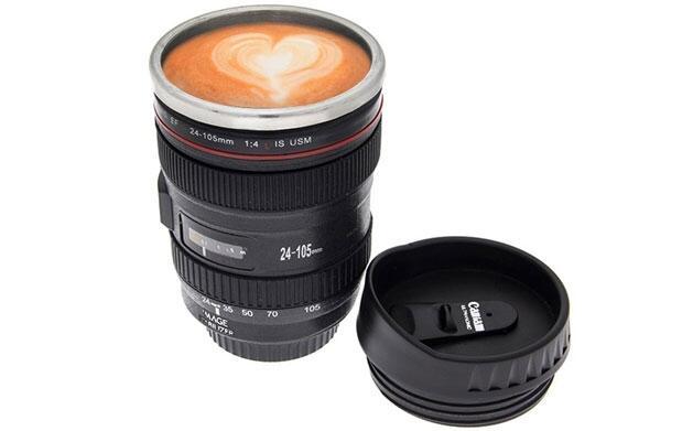 Taza de café cámara