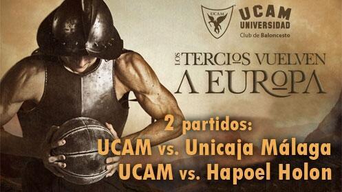 2 partidos de UCAM Murcia CB: debut en Liga y Champions