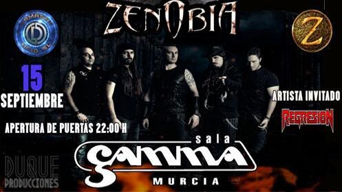 Zenobia + Regresión en Murcia (15 sep.)