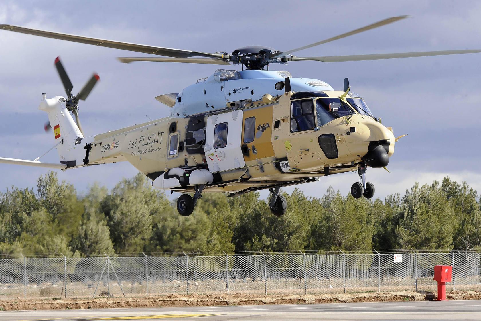 Despega el primer NH90 totalmente ensamblado en Albacete