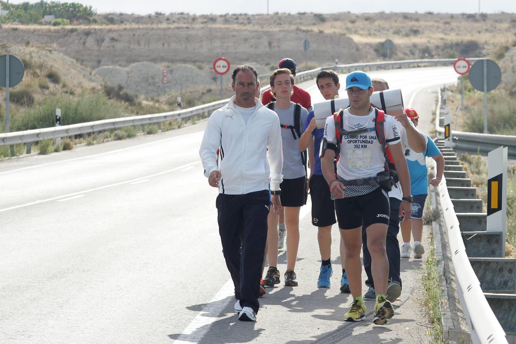Juan belda inicia su marcha a la capital de España