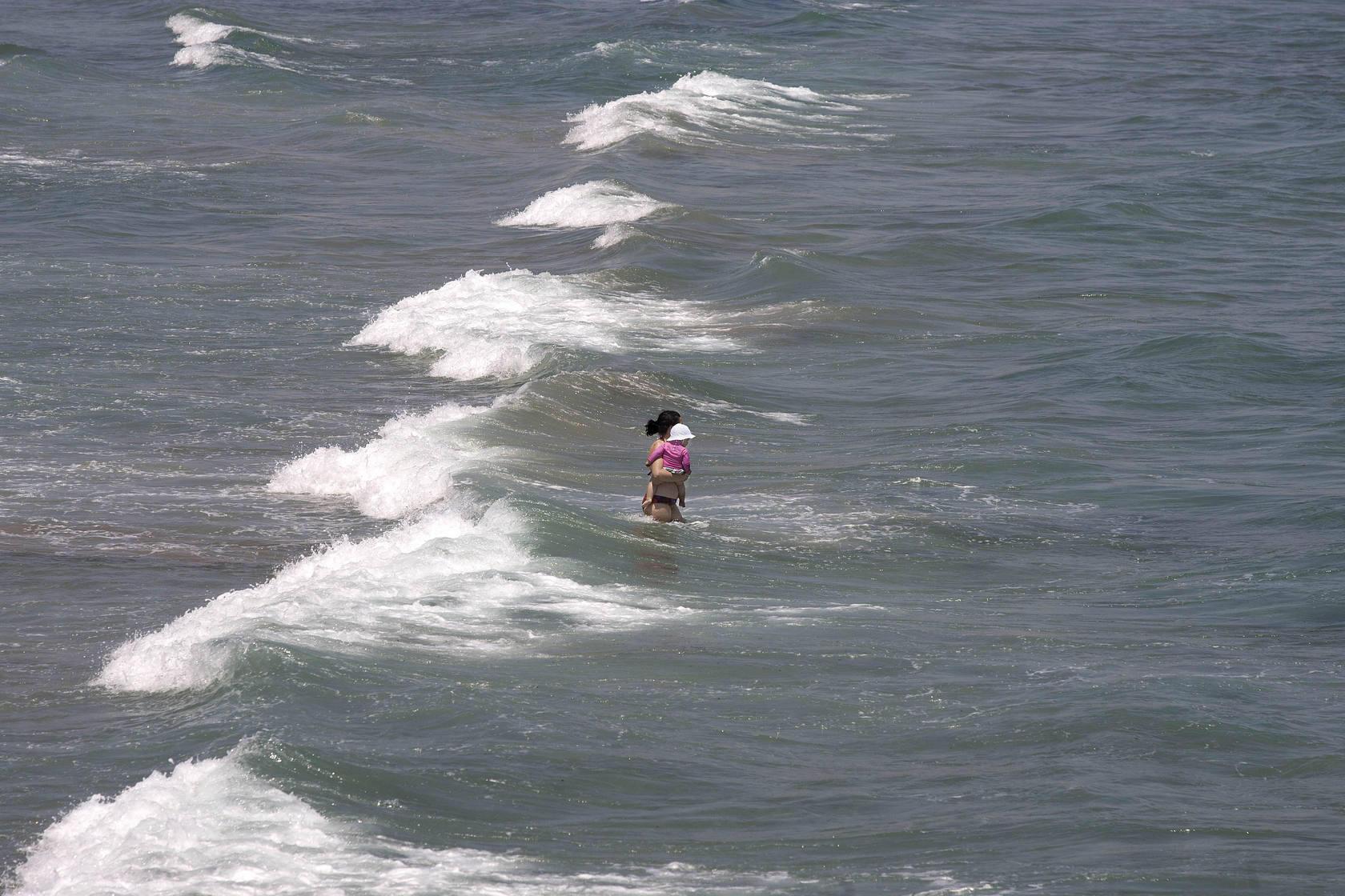 Las playas viven el primer reventón