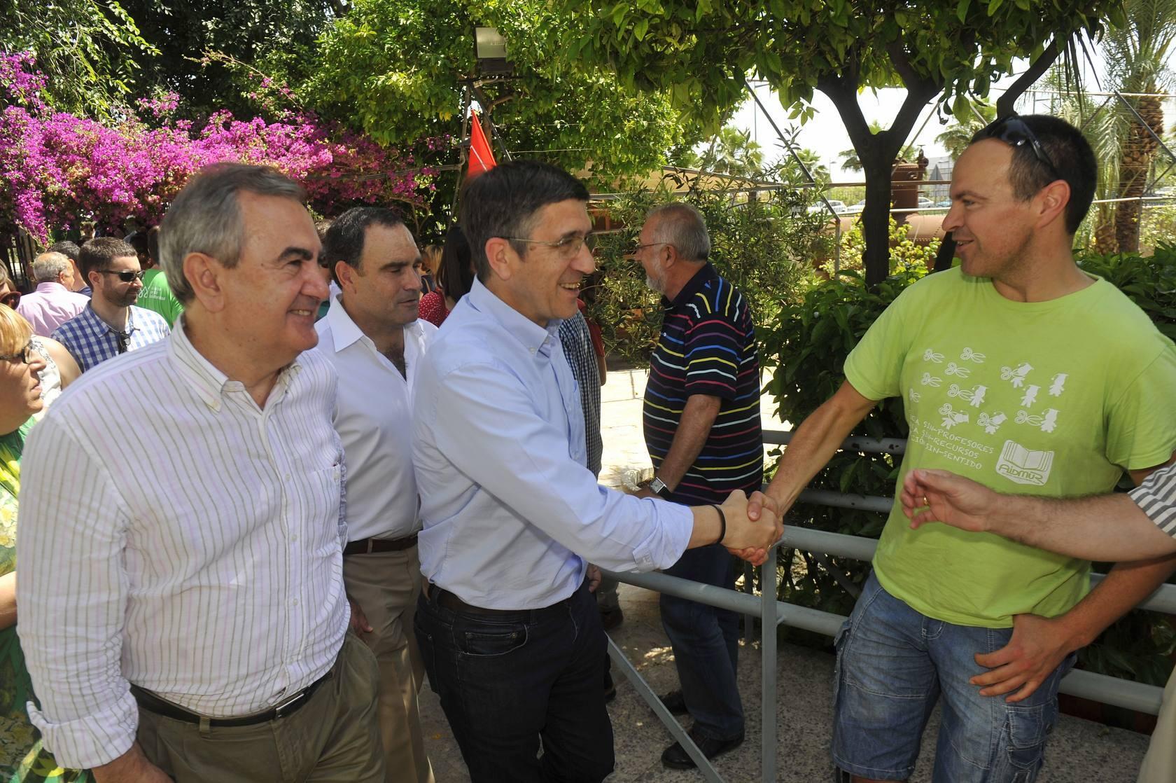 Patxi López asiste a la segunda fiesta de la rosa en la Región organizada por el PSRM-PSOE