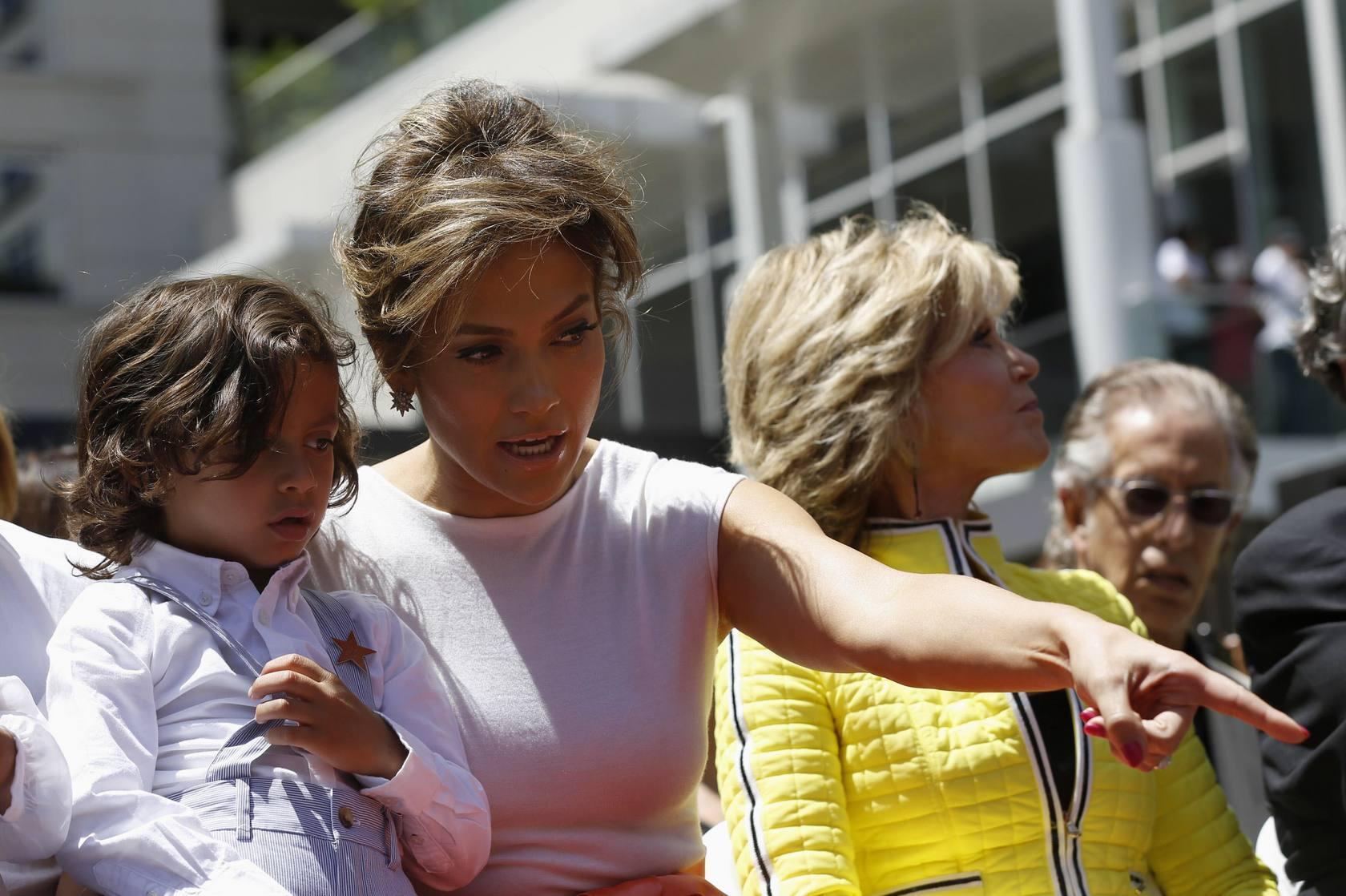 Jennifer Lopez en El Paseo de la Fama de Hollywood