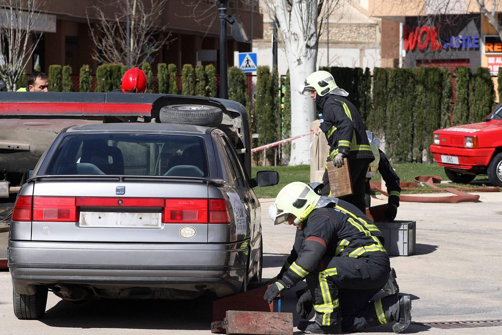 Los bomberos de Albacete realizaron un simulacro de accidentes