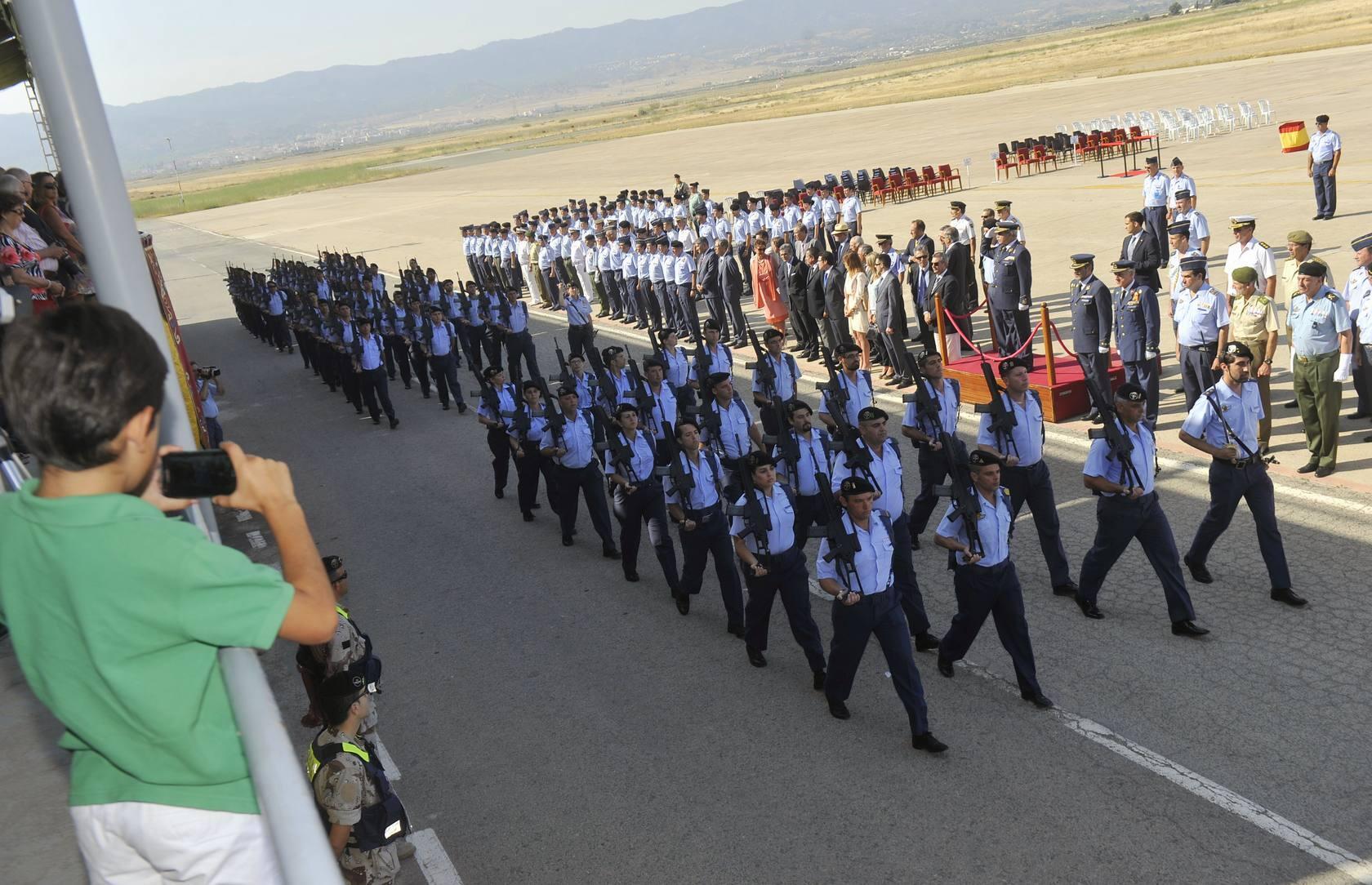 Relevo de mando en la base aérea de Alcantarilla