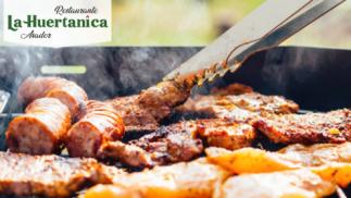Menú con parrillada de carne en pleno centro de Murcia