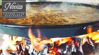 Menú arroz a la leña en Gastrobar Novias