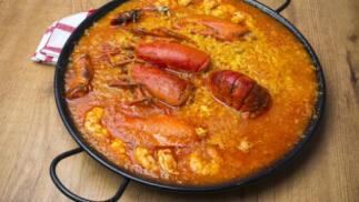 Impresionante menú Arroz con bogavante en La Ribera
