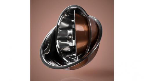 Set de 3 boles de metal inoxidable exquisite