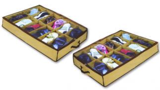 2 o 4 Zapateros bajo cama para 12 pares