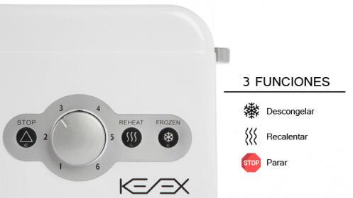 Tostador extra ancho KENEX