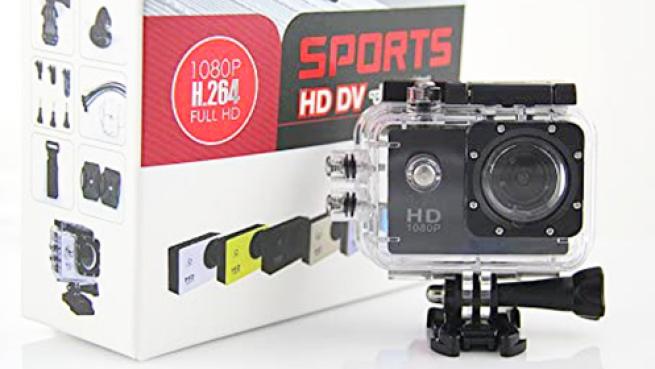 Cámara Deportiva HD DV 1080p FULLHD Water resistant 30m