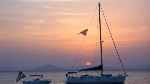 Mar Menor: ruta puesta de sol