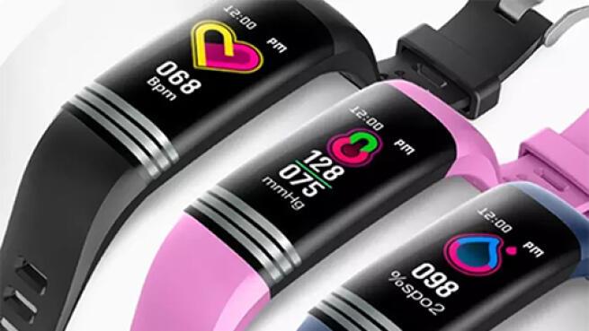 Pulsera actividad con medición de temperatura corporal