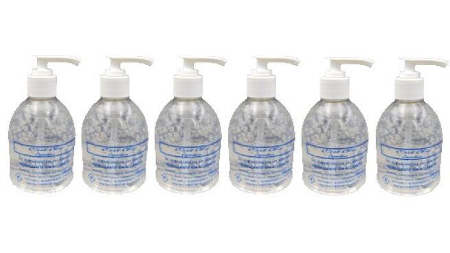 Pack 3 o 6 botes de gel hidroalcohólico con aloe vera de 250ml