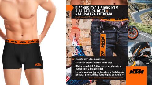 Pack 5 calzoncillos KTM en color negro/ gris/ blanco para hombre